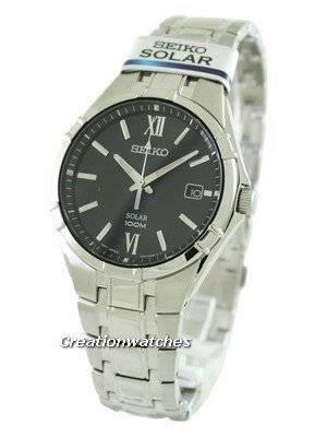 Seiko Solar SNE215 SNE215P1 SNE215P Men's Watch