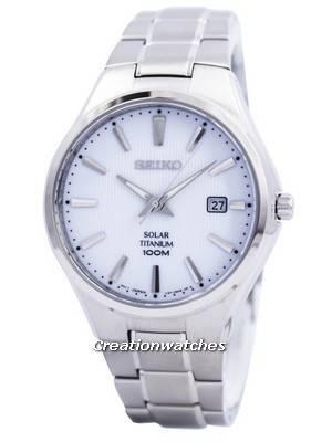 Seiko Solar Titanium 100M SNE375 SNE375P1 SNE375P Men's Watch