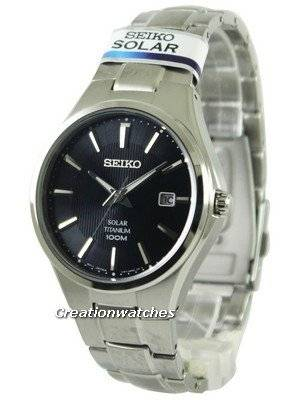 Seiko Solar Titanium 100M SNE377 SNE377P1 SNE377P Men's Watch