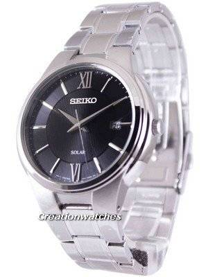 Seiko Solar Black Dial SNE387 SNE387P1 SNE387P Men's Watch