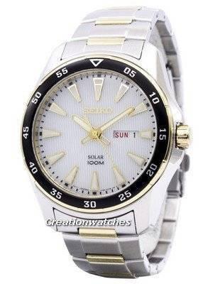 Seiko Solar Two Tone Power Reserve SNE394 SNE394P1 SNE394P Men's Watch