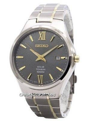 Seiko Solar Titanium Power Reserve SNE409 SNE409P1 SNE409P Men's Watch