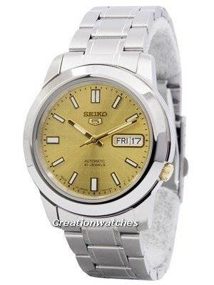 Seiko 5 Automatic 21 Jewels Japan Made SNKK15 SNKK15J1 SNKK15J Men's Watch