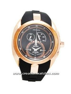 Seiko Mens Watches Arctura Kinetic Chronograph Rose Gold SNL060
