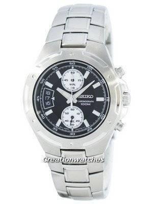 Seiko Chronograph Quartz SNN129 SNN129P1 SNN129P Men's Watch