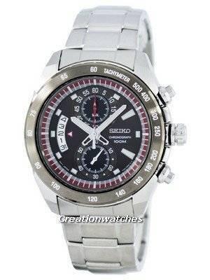 Seiko Chronograph Quartz Tachymeter SNN181 SNN181P1 SNN181P Men's Watch