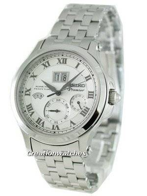 Seiko Premier Kinetic Perpetual SNP039P1 SNP039 SNP039P Mens Watch
