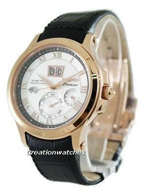 Seiko Kinetic Premier Perpetual Calendar SNP050P1 SNP050P SNP050 Mens Watch
