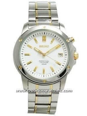 Seiko Perpetual Calendar Two-Tone Men's Watch SNQ008P1 SNQ008P SNQ008