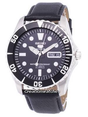 Seiko 5 Sports Automatic Ratio Black Leather SNZF17K1-LS10 Men's Watch