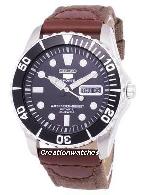 Seiko 5 Sports Automatic Canvas Strap SNZF17K1-NS1 Men's Watch