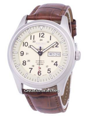 Seiko 5 Sports Automatic Ratio Brown Leather SNZG07K1-LS7 Men's Watch