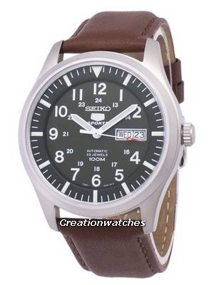Seiko 5 Sports Automatic Ratio Brown Leather SNZG09K1-LS12 Men's Watch