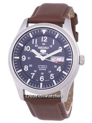 Seiko 5 Sports Automatic Ratio Brown Leather SNZG11K1-LS12 Men's Watch