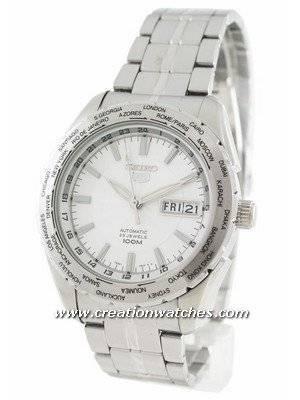 Seiko Automatic Sports SNZG51K1 SNZG51K SNZG51 World Timer Men's Watch