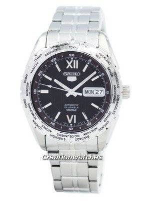Seiko Automatic Sports World Timer SNZG59 SNZG59K1 SNZG59K Men's Watch