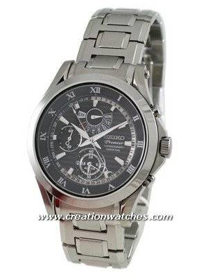 Seiko Men's Watches Premier Chronograph Perpetual SPC051P1 SPC051P