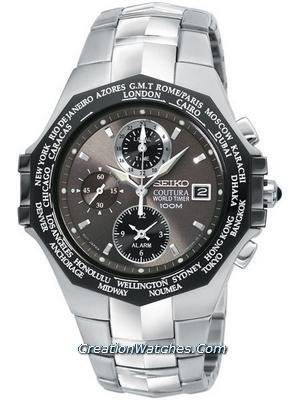 Seiko Coutura World Timer Alarm 100m men's watch SPL001P1 SPL001