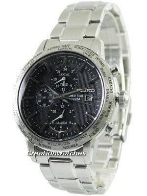 Seiko Alarm Chronograph World Time SPL049 SPL049P1 SPL049P Men's Watch
