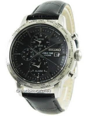 Seiko Alarm Chronograph World Time SPL049P2 Men's Watch