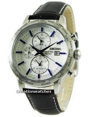 Seiko Quartz Alarm World Time SPL051 SPL051P1 SPL051P Men's Watch