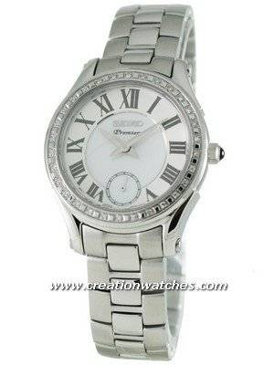 Seiko Premier Ladies Diamond small second SRKZ93P1 30 diamonds