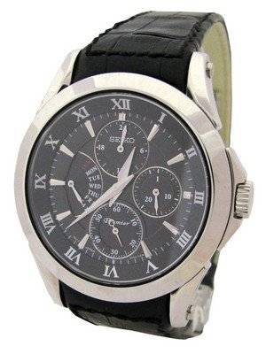 Seiko Premier SRL021P1 SRL021P SRL021 Men's Retrograde Day Indicator Watch