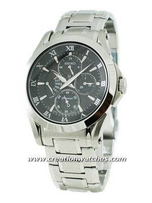 Seiko Premier SRL023P1 SRL023P SRL023 Men's Retrograde Day Indicator Watch