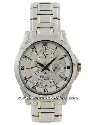 Seiko Premier SRL032P1 SRL032P SRL032 Men's Retrograde Day Indicator Watch