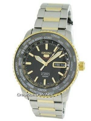 Seiko 5 Sports World Timer Automatic SRP130K1 SRP130 SRP130K Mens Watch