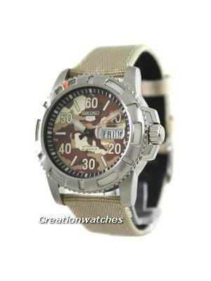Seiko 5 Sports Automatic Military Fabric SRP221K2 Mens Watch