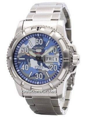 Seiko 5 Sports Automatic 24 Jewels Camouflage Japan Made SRP223J1 SRP223J Men's Watch