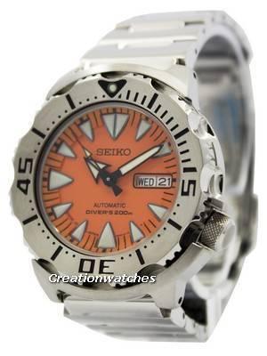 Seiko Japan Made Orange Monster Divers SRP309 SRP309J Men's Watch