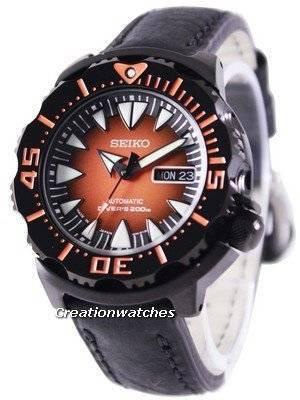 Seiko 5 Sports Automatic Diver's 200M Ratio Black Leather SRP311J1-LS4 Men's Watch
