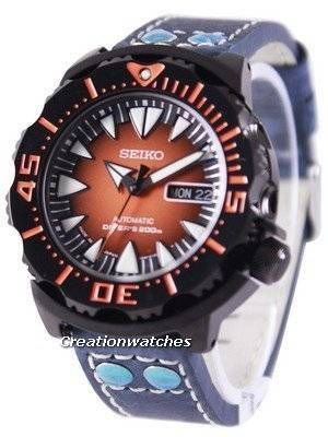 Seiko 5 Sports Automatic Diver's 200M Ratio Blue Leather SRP311J1-LS5 Men's Watch