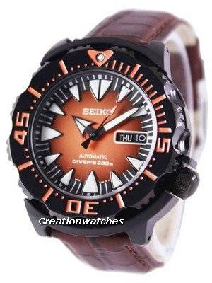 Seiko 5 Sports Automatic Diver's 200M Ratio Brown Leather SRP311K1-LS3 Men's Watch