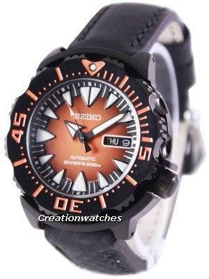 Seiko 5 Sports Automatic Diver's 200M Ratio Black Leather SRP311K1-LS4 Men's Watch