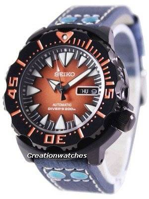 Seiko 5 Sports Automatic Diver's 200M Ratio Blue Leather SRP311K1-LS5 Men's Watch