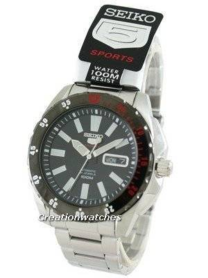 Seiko 5 Sports Automatic 24 Jewels 100M SRP361 SRP361K1 SRP361K Men's Watch