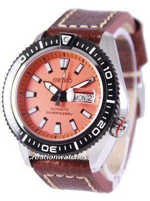 Seiko Superior Automatic Diver's 200M Ratio Brown Leather SRP497K1-LS1 Men's Watch