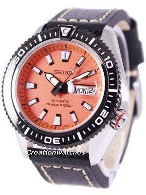 Seiko Superior Automatic Diver's 200M Ratio Black Leather SRP497K1-LS2 Men's Watch