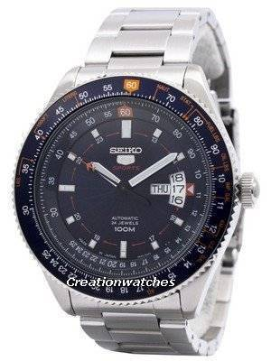 Seiko 5 Sports Automatic 24 Jewels Pilot Japan Made SRP609 SRP609J1 SRP609J Men's Watch