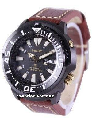 "Seiko Prospex ""Baby Tuna"" Automatic Diver's 200M Ratio Brown Leather SRP641K1-LS1 Men's Watch"
