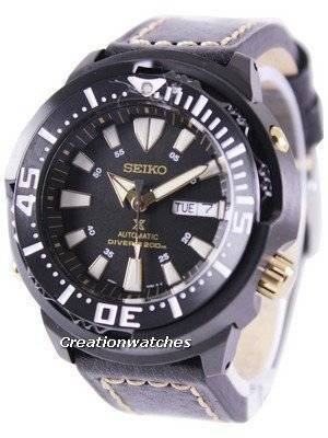 "Seiko Prospex ""Baby Tuna"" Automatic Diver's 200M Ratio Black Leather SRP641K1-LS2 Men's Watch"