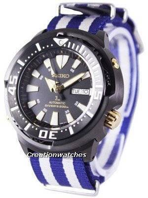 "Seiko Prospex ""Baby Tuna"" Automatic Diver's 200M SRP641K1-NATO2 Men's Watch"