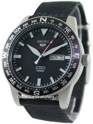 Seiko 5 Sports Automatic 24 Jewels 100M SRP667 SRP667K1 SRP667K Men's Watch