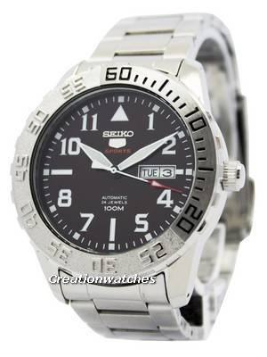 Seiko 5 Sports Automatic 24 Jewels 100M SRP753 SRP753K1 SRP753K Men's Watch