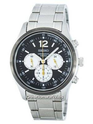 Seiko Chronograph Quartz Tachymeter SRW011 SRW011P1 SRW011P Men's Watch