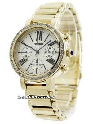 Seiko Chronograph Cabochon Crown SRW014 SRW014P1 SRW014P Women's Watch
