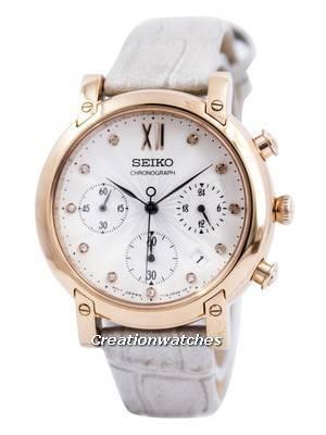 Seiko Chronograph Quartz Crystals SRW834 SRW834P1 SRW834P Women's Watch